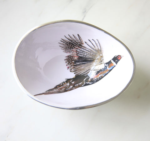 Pheasant Oval Bowl Small (min 4)