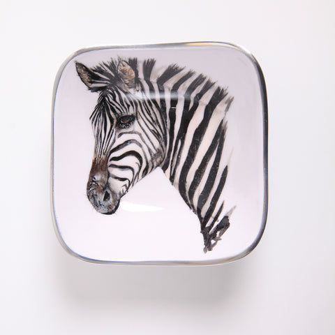 Zebra Square Bowl (min 4)