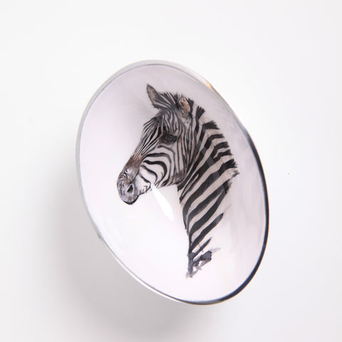 Zebra Oval Bowl Small (min 4)