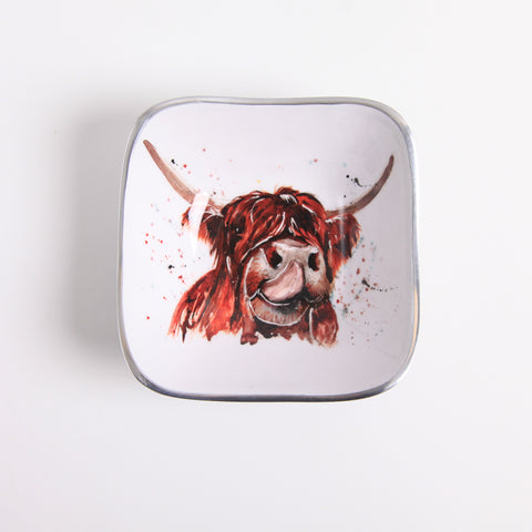 Highland Cow Square Bowl (min 4)