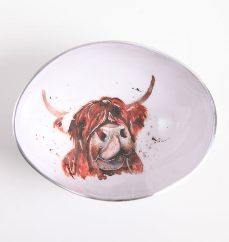 Highland Cow Oval Bowl (min 4)