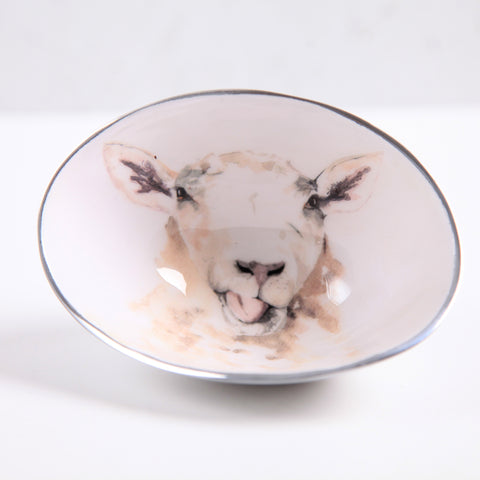 Sheep Oval Bowl Small (trade min 4)