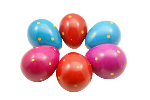 Coloured Polka Dot Eggs (12 per display box - min 12)
