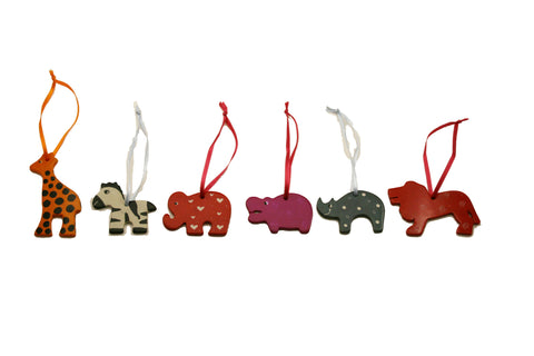 Soapstone Hanging Animals 5 cm (24 per display box - min 24)
