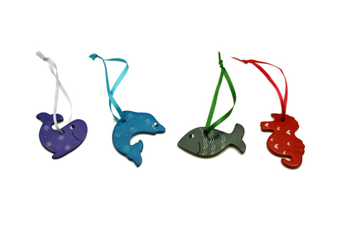Soapstone Hanging Marine Animals 5 cm (24 per display box - min 24)