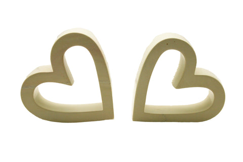 Twin Natural Slanted Hearts (min 1)