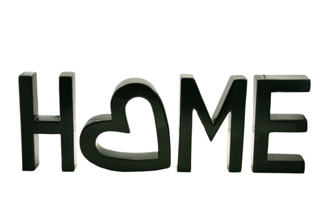 Soapstone Black HOME Sculpture