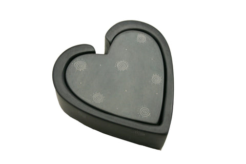Grey Heart Coasters - Set of 6 (min 4 sets)