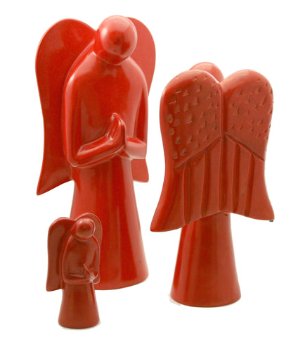 Red Praying Angel Medium (min 2)