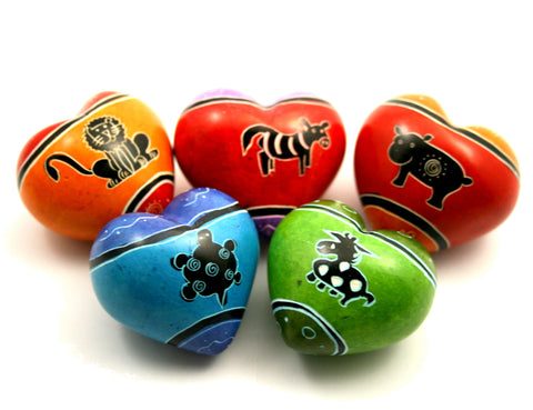 Funky Animal Hearts 4 cm (24 per display box - min 24)