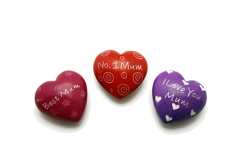 Mum Message Hearts 4 cm (24 per display box - min 24)