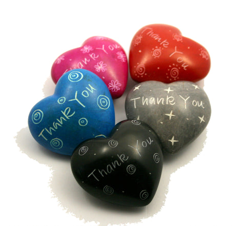 Thank you Message Hearts 4 cm (24 per display box - min 24)