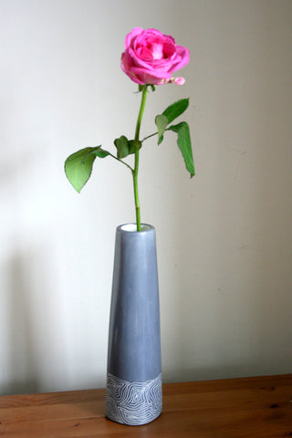 Champagne Grey Vase 25 cm (min 4) *NEW PRODUCT FOR 2017*