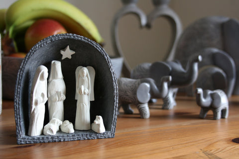 Soapstone Nativity Set 10 cm (min 3)