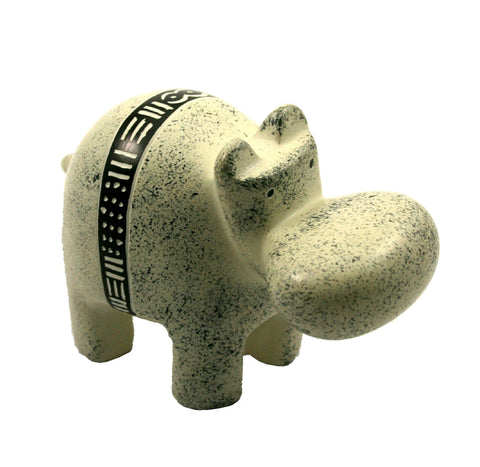 Bogolan Belt Hippo - 10cm (trade min set of 3)