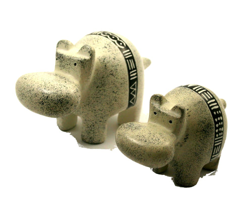 Bogolan Belt Hippo - 7cm (min set of 6)