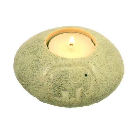 Elephant Grey Disc Tealight 10 cm (min 3)