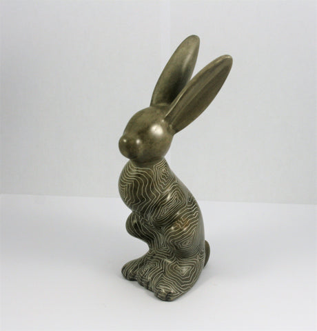 Champagne Grey Abstract Hare 12 cm (min 2)