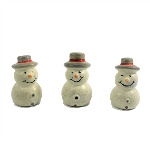 Cute Snowmen 3 cm (24 display box - min 24)