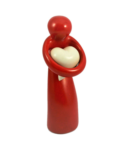 Red Lady Holding Heart (min 3) (New Product in Stock April 2019)