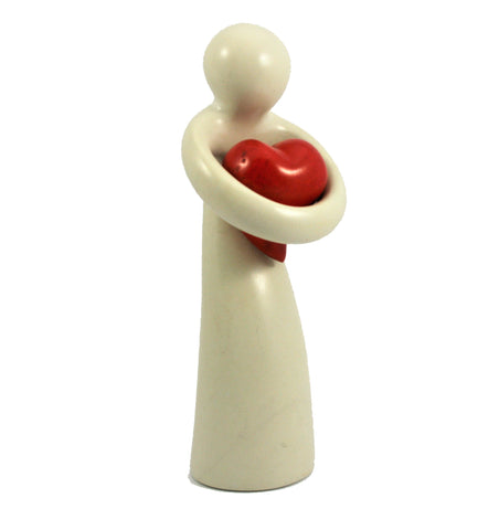 Natural Lady Holding Heart (min 3) (New Product in Stock April 2019)