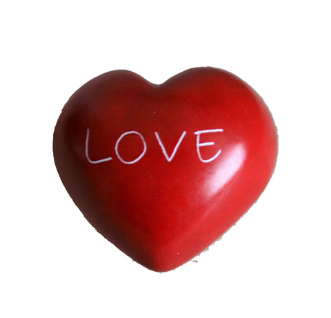 Red Love Round Heart - 5 cm  (12 per display box - min 12)