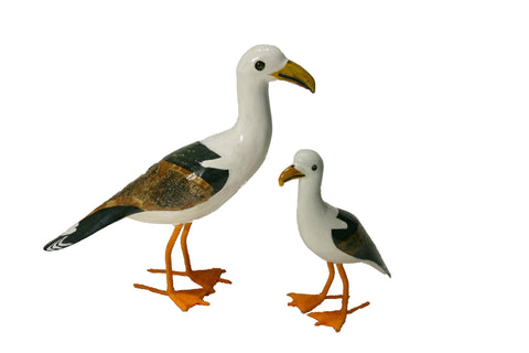 Painted Wooden Seagull - Large (trade min 2)