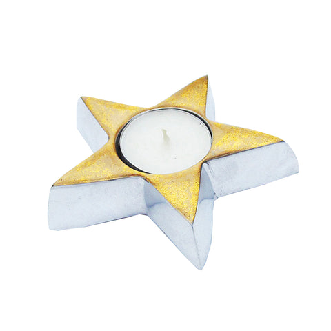 Gold Star Tealight - SOLO PRODUCT SPECIAL SALE PRICE (min 2)