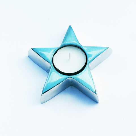 Turquoise Star Tealight - SOLO PRODUCT SPECIAL SALE PRICE (min 2)