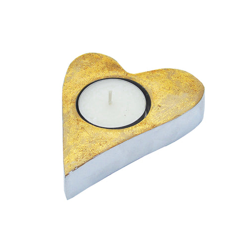 Gold Heart Tealight - SOLO PRODUCT SPECIAL SALE PRICE (trade min 2)