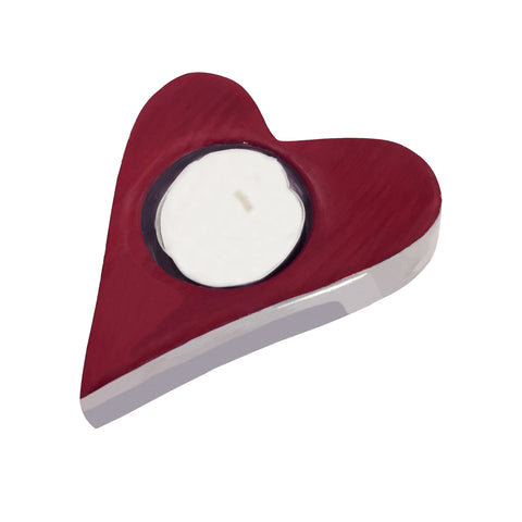 Red Heart Tealight - SOLO PRODUCT SPECIAL SALE PRICE (min 2)