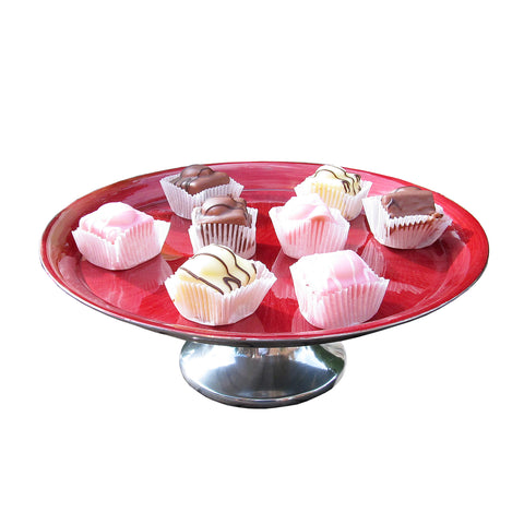 Red Cake Stand Large - SOLO PRODUCT SPECIAL SALE PRICE (min 2)