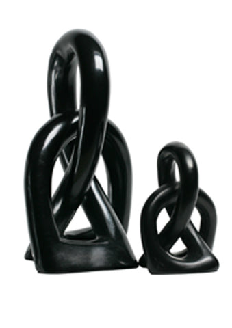 Love Knot Black - Small (min 4)  (smaller Love Knot pictured)