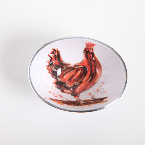 Henrietta the Chicken Oval Bowl Petite (min 4)