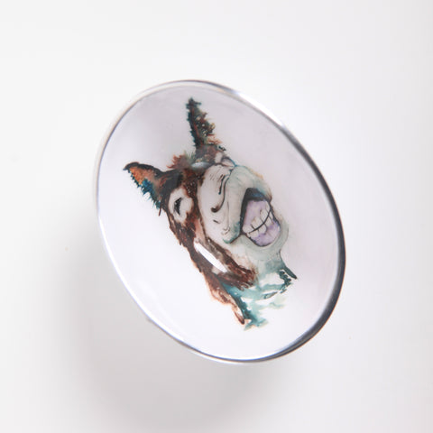 Delores the Donkey Oval Bowl Petite (Trade min 4 / Retail min 1)