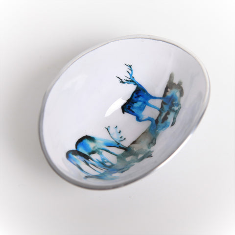 Stag Silhouette Oval Bowl Petite (Trade min 4 / Retail min 1)
