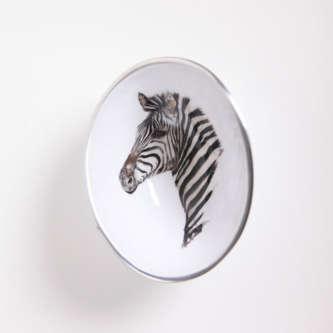 Zebra Oval Bowl Petite (min 4) (New Product in Stock March 2019)