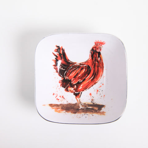 Henrietta the Chicken Square Bowl (min 4)