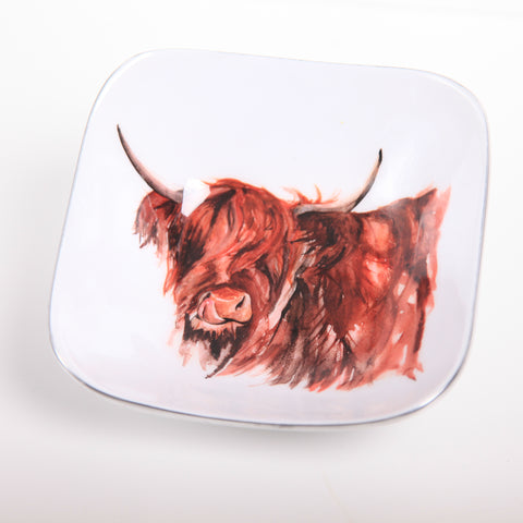Highland Cow Myrtle Square Bowl (min 4)