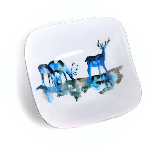 Stag Silhouette Square Bowl (min 4) (New Product in Stock April 2019)