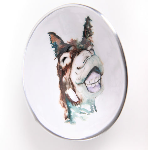 Delores the Donkey Oval Bowl Small (min 4) (New Product in Stock April 2019)