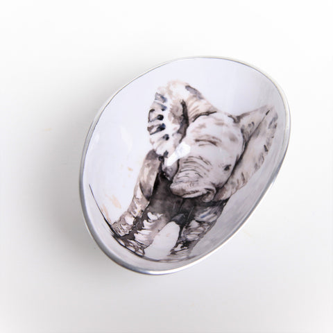 Baby Elephant Oval Bowl Small (min 4) (New Product in Stock April 2019)
