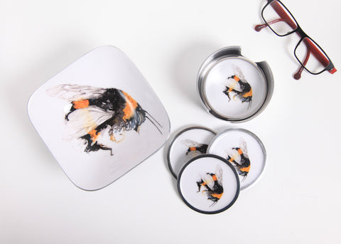 Bee Coaster Set of 6 (Trade min 4 / Retail min 1)