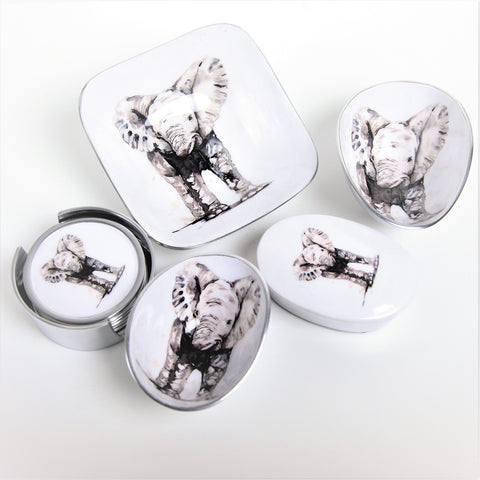 Baby Elephant Coasters Set of 6 (trade min 4 )