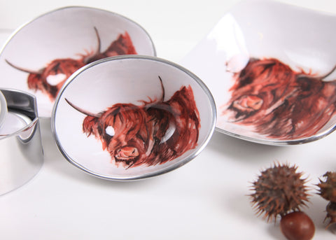 Highland Cow Myrtle Oval Bowl Petite (min 4)