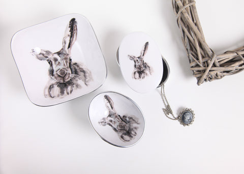 Hare Coasters Set of 6 (Trade min 4 / Retail min 1)