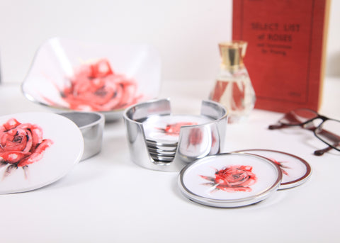 Red Rose Oval Bowl Small (min 4) (New Product in Stock April 2019)