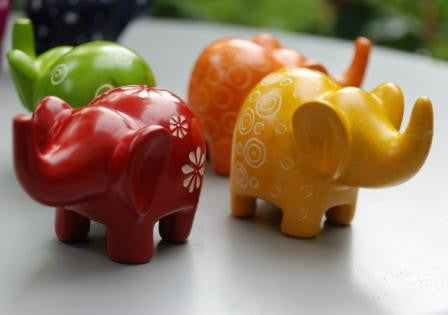 Mara Coloured Elephants - Small (min set of 6)