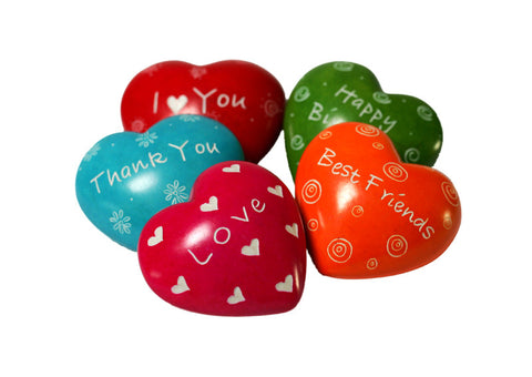 Message Hearts 4 cm (24 per display box - min 24)
