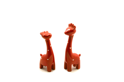 Red Giraffe Pair 10/12 cm (min 6)